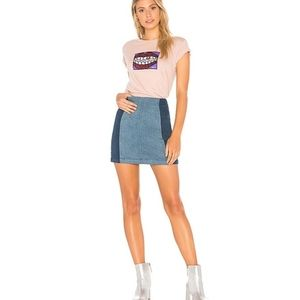 FREE PEOPLE - Colour Block Mini Skirt